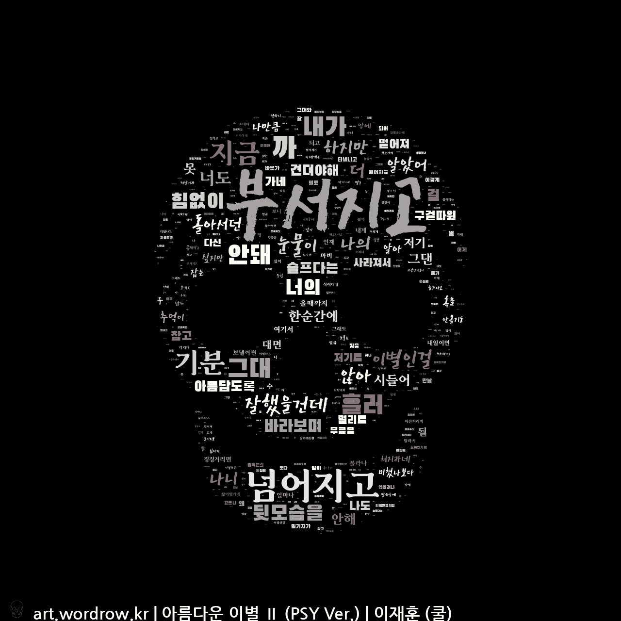 워드 클라우드: 아름다운 이별 Ⅱ (PSY Ver.) [이재훈 (쿨)]-17